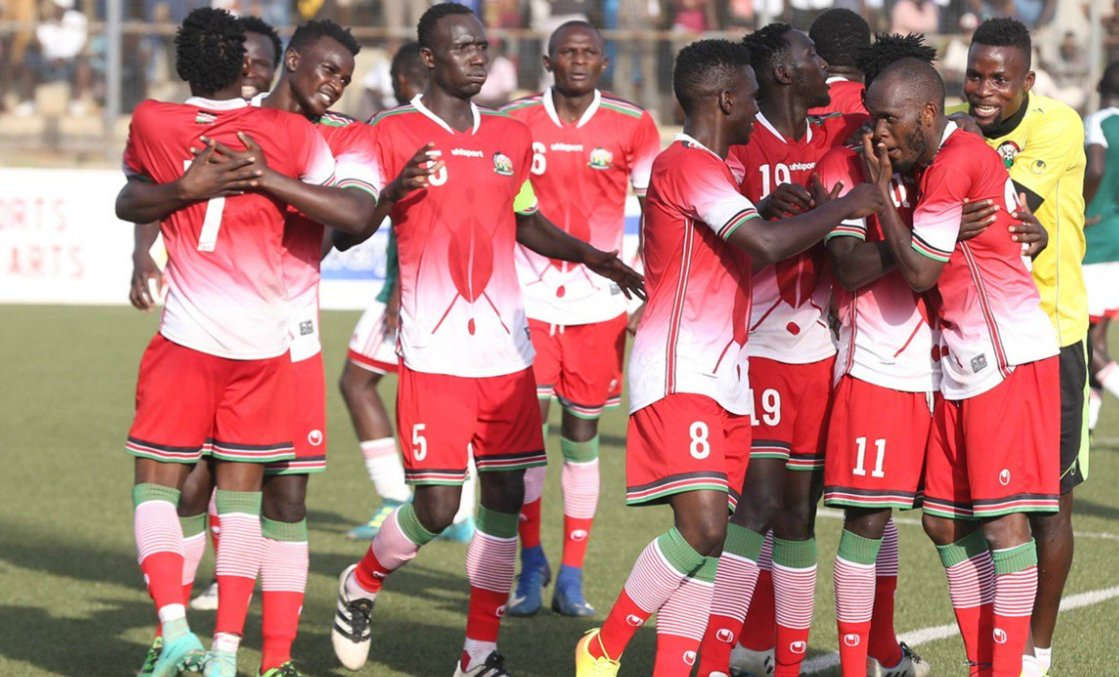 FT: Kenya 1-0 Ghana. 10-man #HarambeeStars hold on for a win at Kasarani Stadium after defender Joash Onyango was expelled from the match on the 70th minute. #AFCON2019Q