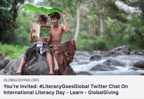 Thank you to our peers from all over the world who joined the #LiteracyGoesGlobal chat today in celebration of International #LiteracyDay! And a BIGGER thank you to our friends & co-hosts at @GlobalGiving, @WISERGirls_Intl  & @Pta_Abierta for their wise insightful conversations!<br>http://pic.twitter.com/87tAs4liFt