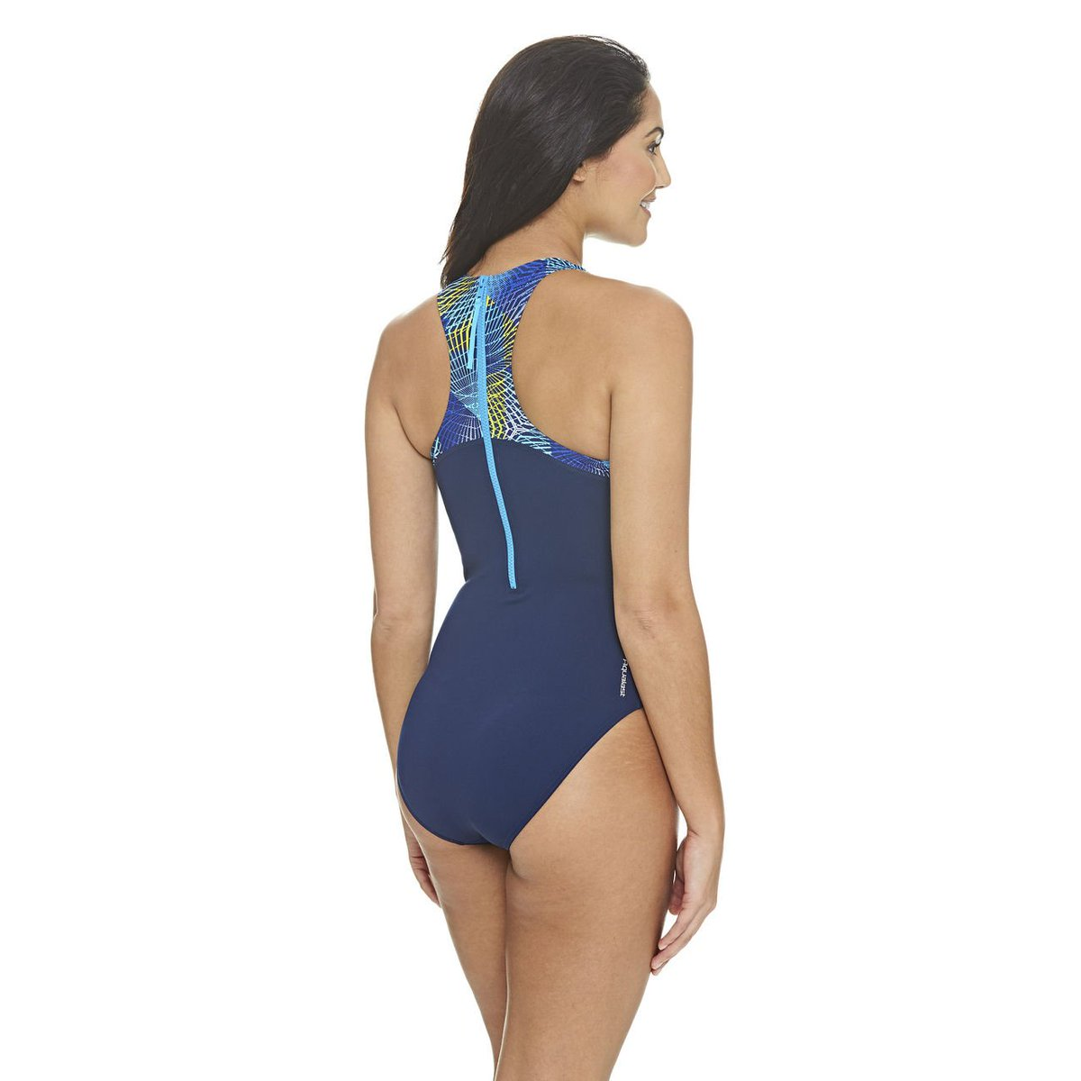 57d352ecdd7 The Spiro Spiro Zippedback Swimsuit has a high neck and back for a more  hydro-dynamic swim, high leg height and an extended zip back  https://bit.ly/2wMBERF ...