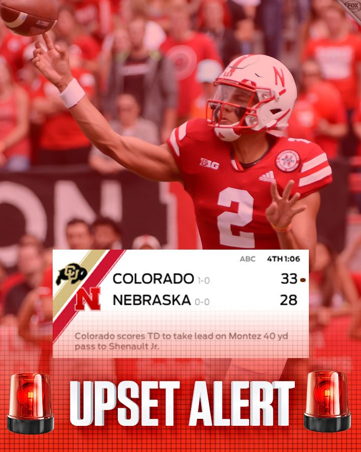 Fox College Football On Twitter Down Go The Cornhuskers Colorado