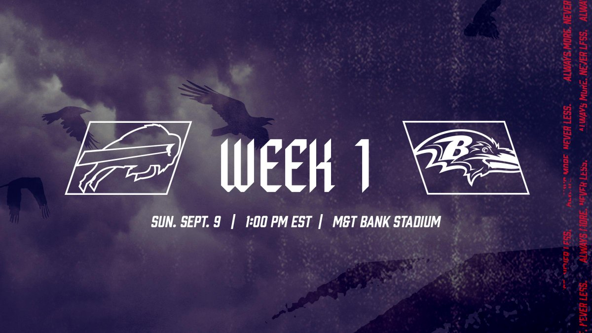 Baltimore Ravens On Twitter It S Week One Everything You Need To Know For Ravens Vs Bills Https T Co C8puesuky6