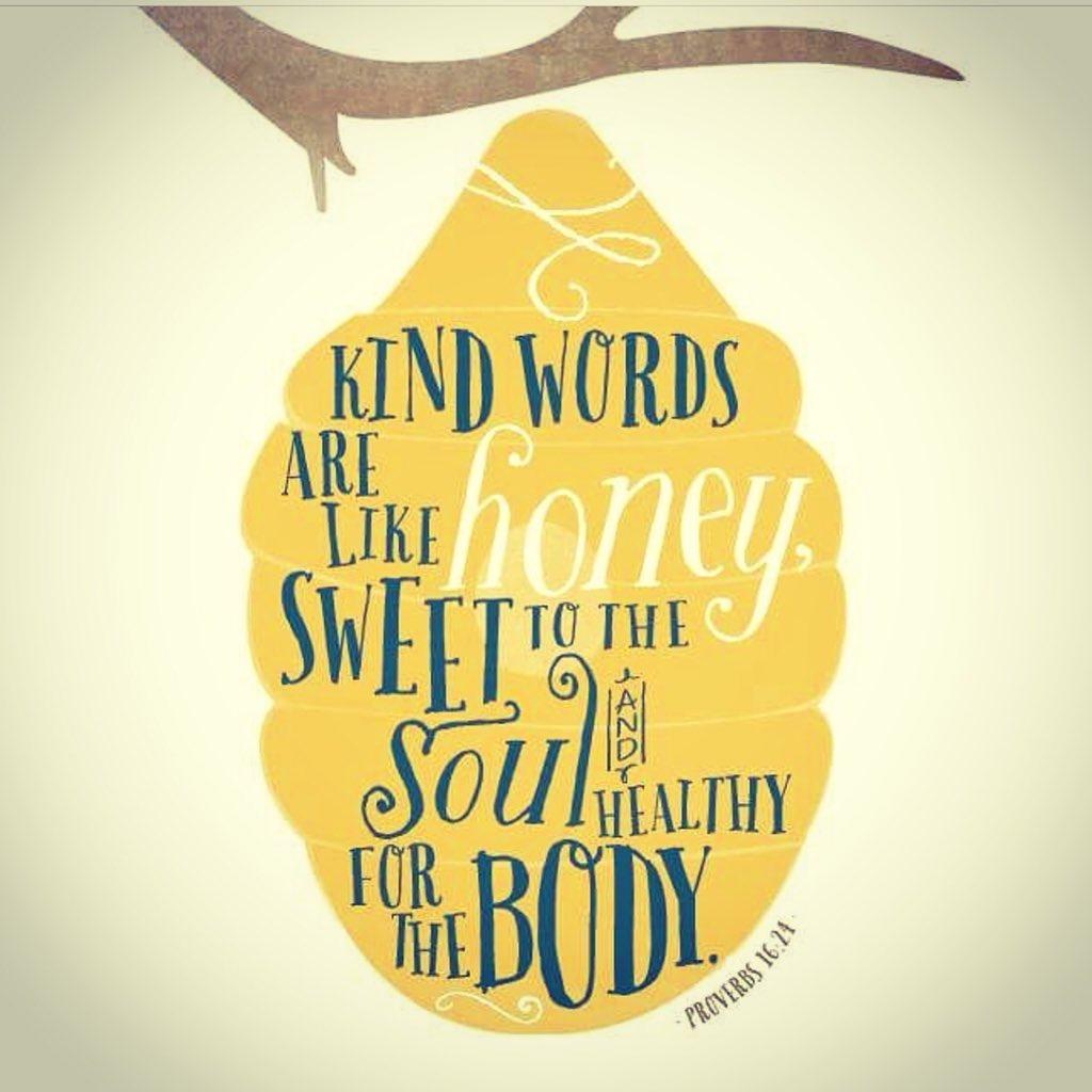 Kind words are like honey! #JoyfulLeaders #bekindEDU