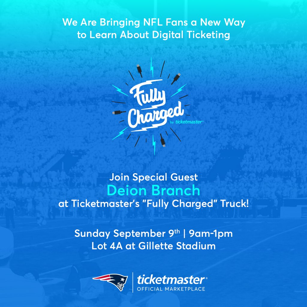 Ticketmaster on twitter join us at gillettestadium for the second 327 pm 8 sep 2018 m4hsunfo