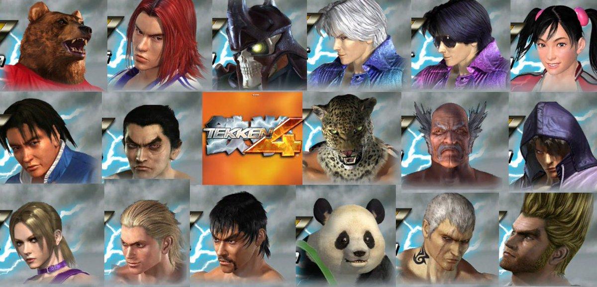 Wonkey On Twitter Tekken 4 Character Portraits By