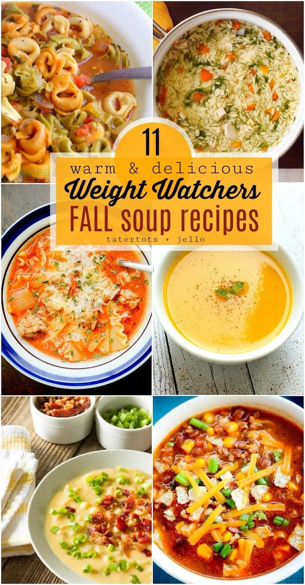 11 Warm and Delicious Fall Weight Watchers Soup Recipes! https://t.co/O1vStTcaqf https://t.co/Od4pngcMDL