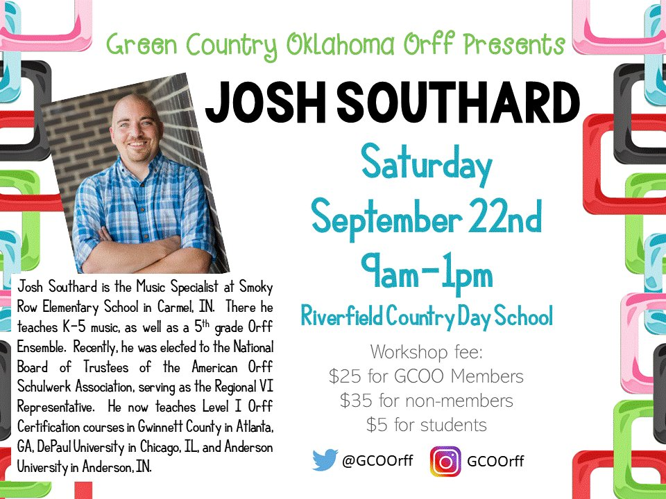 Green Country Ok Orff On Twitter Join Gcoorff On Saturday
