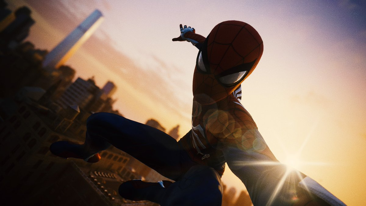 Snappin' some Spidey selfies in Photo Mode! One of the many cool features I got the chance to work on #SpiderManPS4