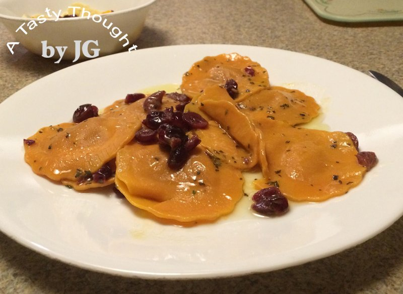 A very quick #dinner- Butternut #Squash Ravioli with Basil Craisin Topping!   https://t.co/6AyPxmGrs4 https://t.co/ya12soWxrV