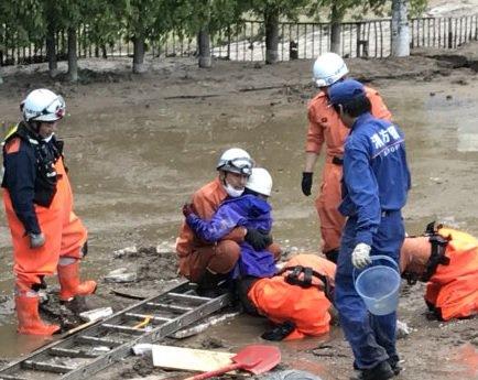 画像,【HTB 土屋まり 土にはまり】とくだね!ミヤネ屋は「泥に埋まった女性」と報道。脱出できず、6時間半かけて救出。体当たり取材のHTBは、ANN(テレ朝)系列。 …