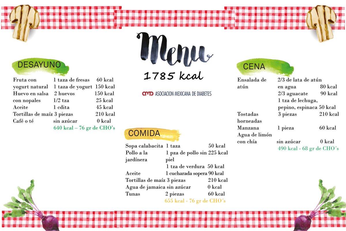 plan de menú sin peso