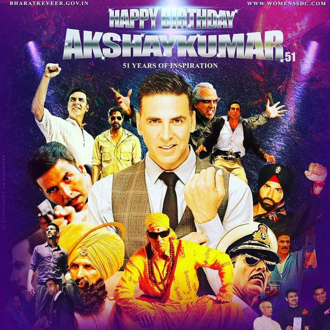 Happy Birthday Legend & Khiladi of Bollywood -Akshay Kumar.