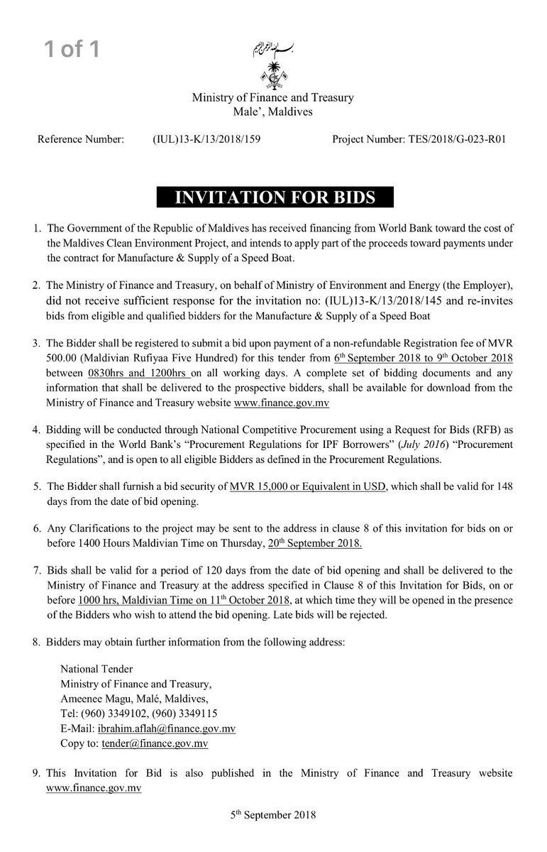 Financegovmv on twitter invitation for bids project name bid submission on or before 1000hrs on 11102018 more httpfinancev2uploadedcontentpostspost2420 iul13k132018159pdf picitter stopboris Images