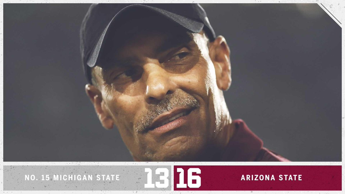 Upset in Tempe!  Herm Edwards' Sun Devils knock off No. 15 Michigan State with a game-winning field goal as time expires.