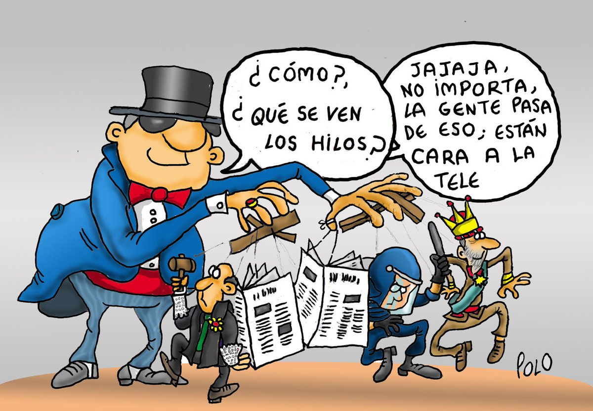 """La viñeta de hoy...""""El Gran Titiritero"""" @pelaya01 @belkike @Zaparrastroso1 @Famelica_legion"""