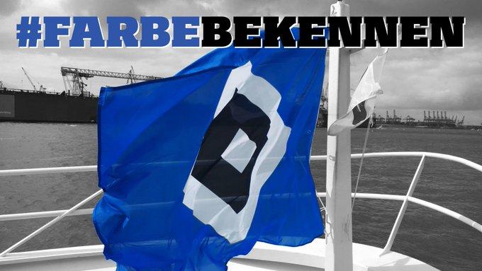 Wir wünschen euch einen schönen blau-weiß-schwarzen Sonntag 🔷⚪⚫ Nur noch sechs Tage, dann geht es endlich los! #nurderHSV #Farbebekennen Foto