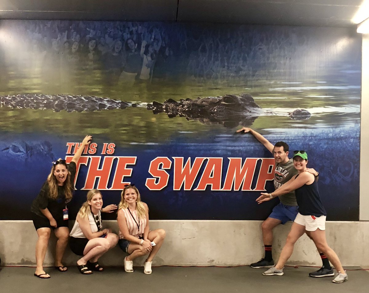 Great weekend in The Swamp with @Wendys team for week 1 of CFB tailgates🍔🏈🐊