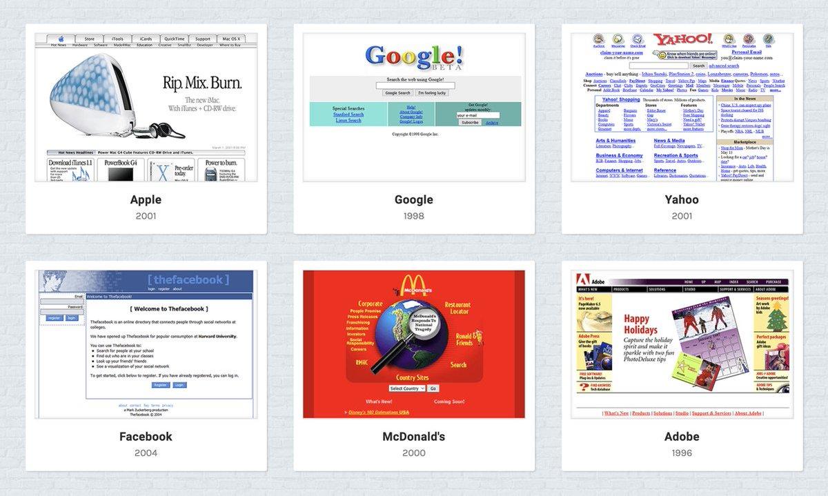 Apple、Yahoo、Adobe、20年前のウェブサイトってどんなデザインだったの? #Web #デザイン https://t.co/AGb64TCEFe