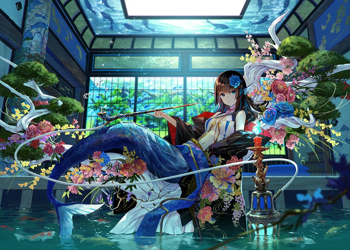 藤ちょこ 個展10月31日 画集発売中 奥座敷の人魚姫