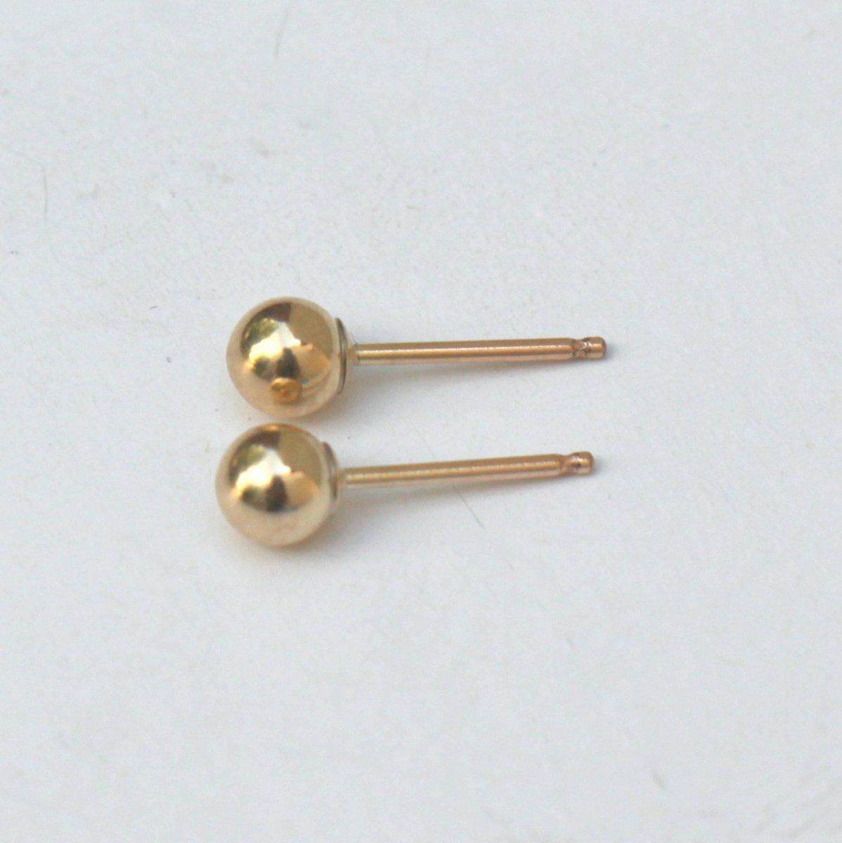 04c212e2f ... 14k Gold Filled Studs, Dot post Earrings, Tiny Studs, 4mm Dot Studs,  Simple small ball Earrings #jewelry #earrings #gold #girls #circle # minimalist ...