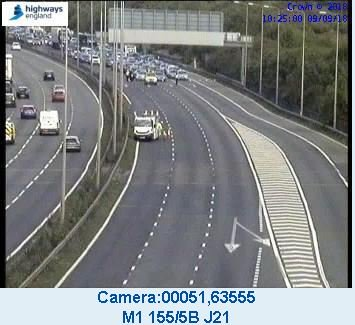 Updates: M1 southbound re-opened after serious two-car crash