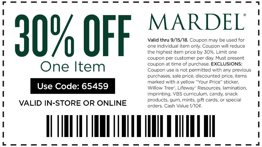 Latest add Mardel Christian & Education Coupons