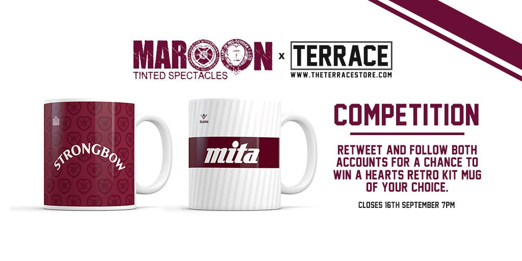 COMPETITION | For a chance to win a free Hearts retro kit mug from http://www.theterracestore.com, retweet and follow both us and @theterracelife. Closes Sept 16th!