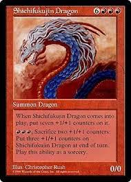 【MTG】《七福神ドラゴン / Shichifukujin Dragon》は世界に1枚のカード!価格・効果