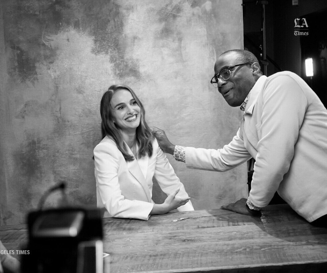 Natalie with Barry Jenkins at the LA Times (2018)