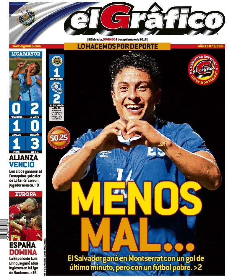 Liga de Naciones CONCACAF 2018-19: Monserrat 1 El Salvador 2. DmqFQ8JXcAElZLD