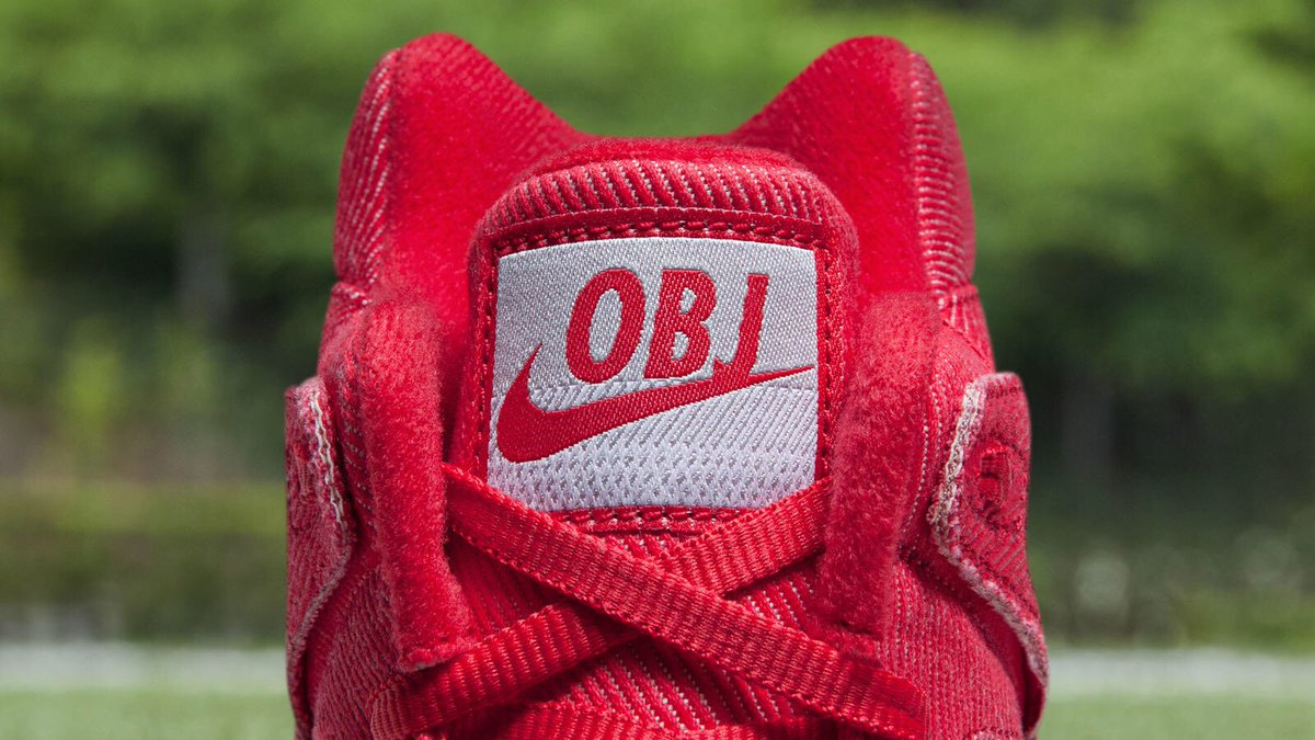 d24ee60d9a84 obj will wear Nike Tech Challenge 2 cleats in red denim during pregame  warmups today as a nod to  AndreAgassi.