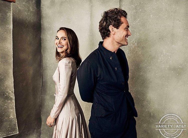 Natalie Portman, Jude Law and Brady Corbet at #TIFF18
