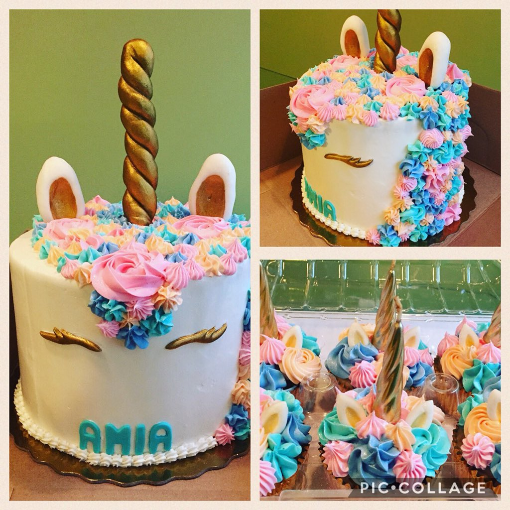 Unicorn Cake And Cupcakes I Made Unicorncake Cupcake Tco 2qVvNd8nic