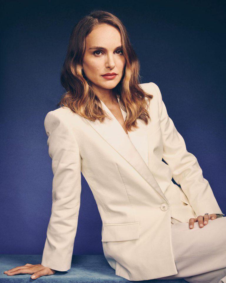 Natalie Portman in a suit for Vanity Fair (2018)