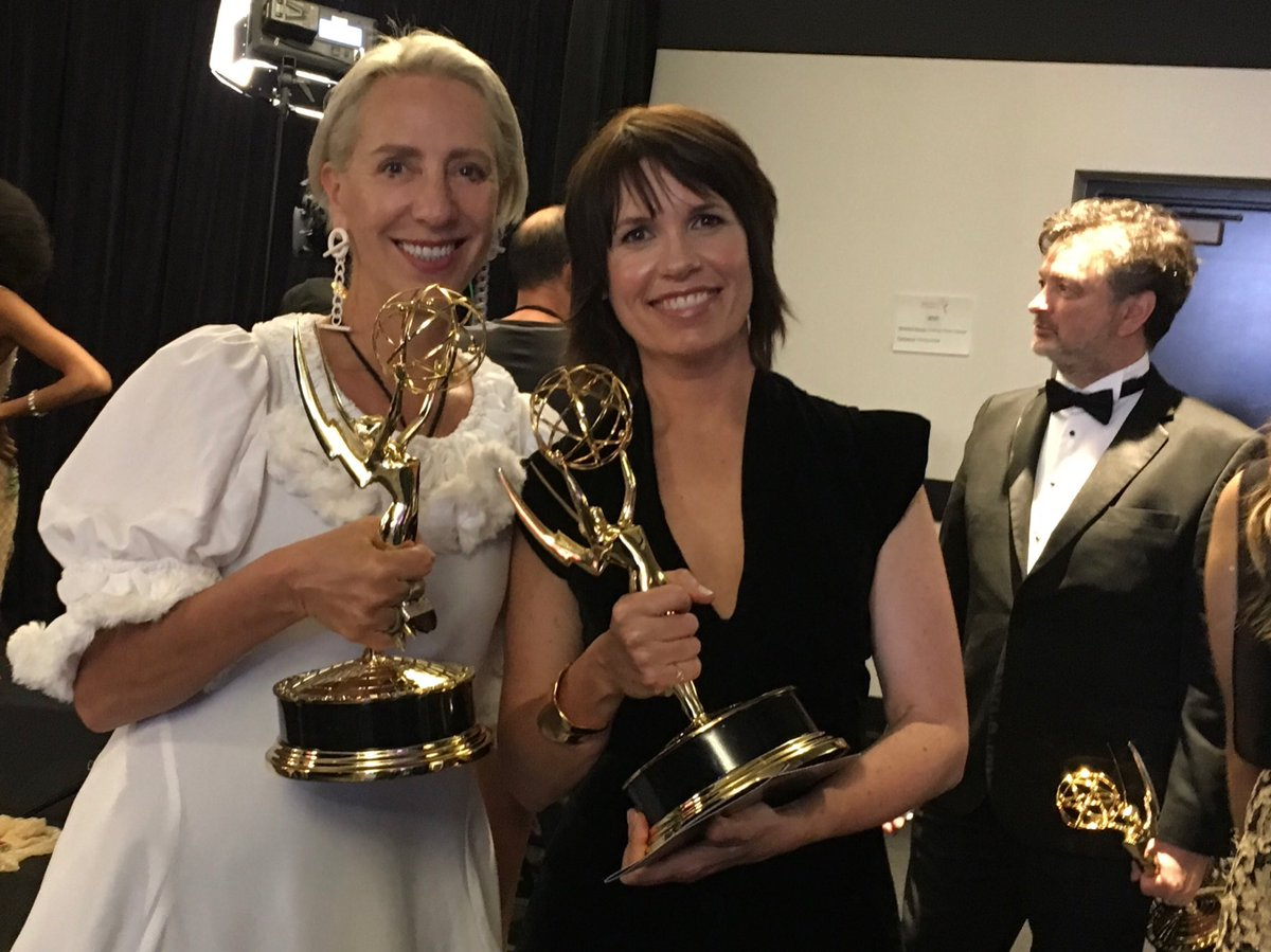 #Emmys2018 Congrats to Michele Clapton and Deborah Riley, Emmy Winners for @GameOfThrones 🎉🎉👏👏