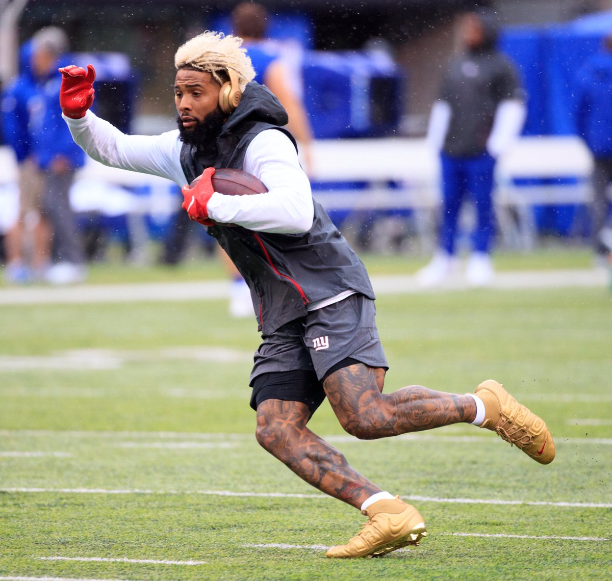 467bfbb660 obj stuck with his gold supreme uptempo inspired cleats today mikelawrie