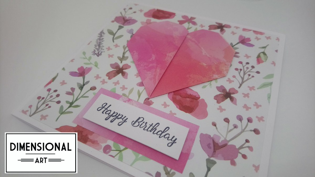 Dimensional Art On Twitter Birthday Card Origami Heart Flowers