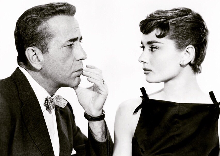 The lovely classic film 'Sabrina,' starring Humphrey Bogart and Audrey Hepburn, premiered in London on this day in 1954.