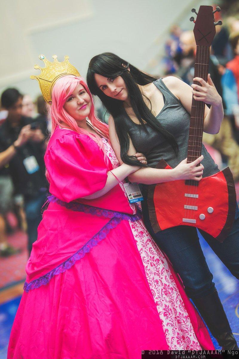 Marceline and princess bubblegum cosplay