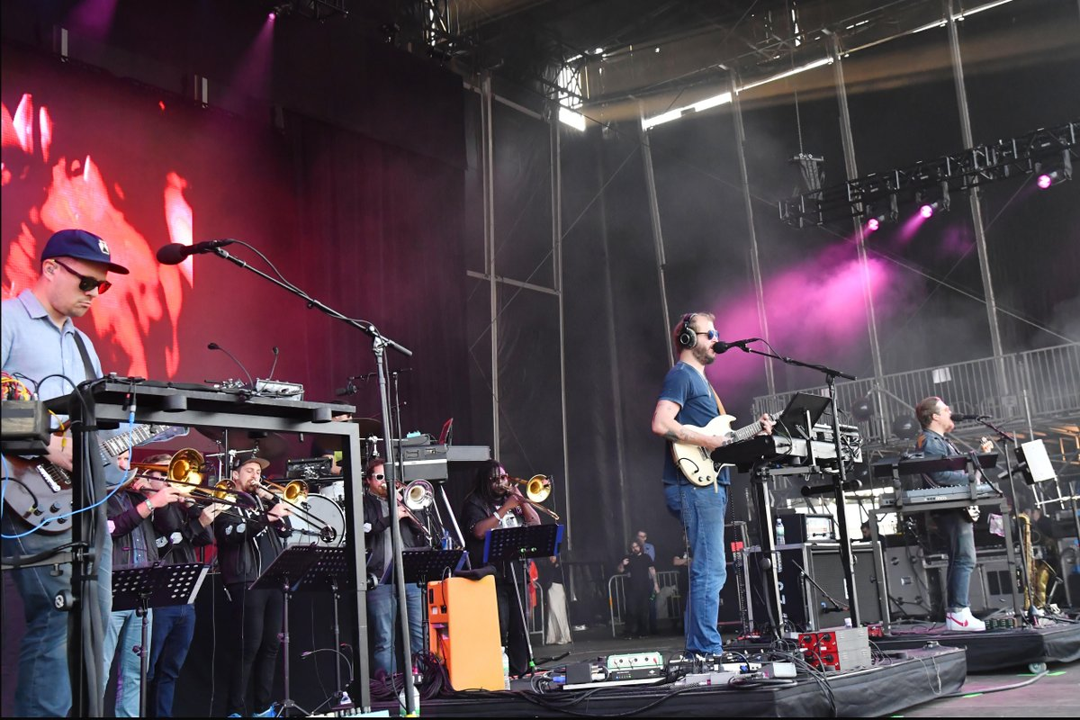 ranger dave was happy to be up in the woods with @boniver. #outsidelands. (📷: @jeffkravitz, filmmagic)