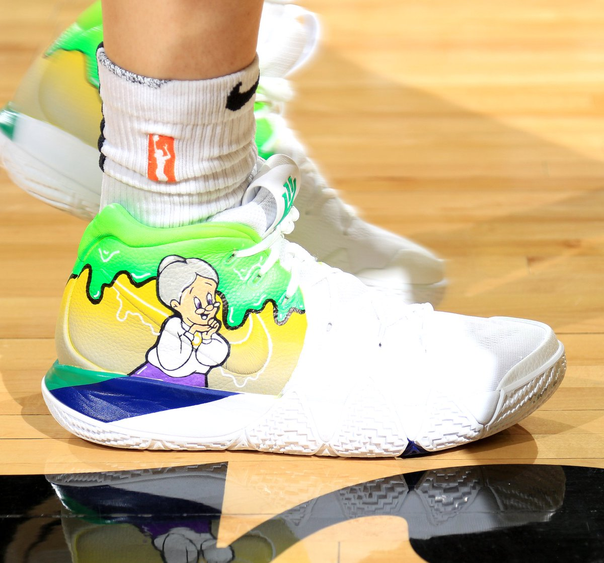 timeless design c3bdd 30903 SoleWatch wearing Granny Nike Kyrie customs Game WNBA Finals ...