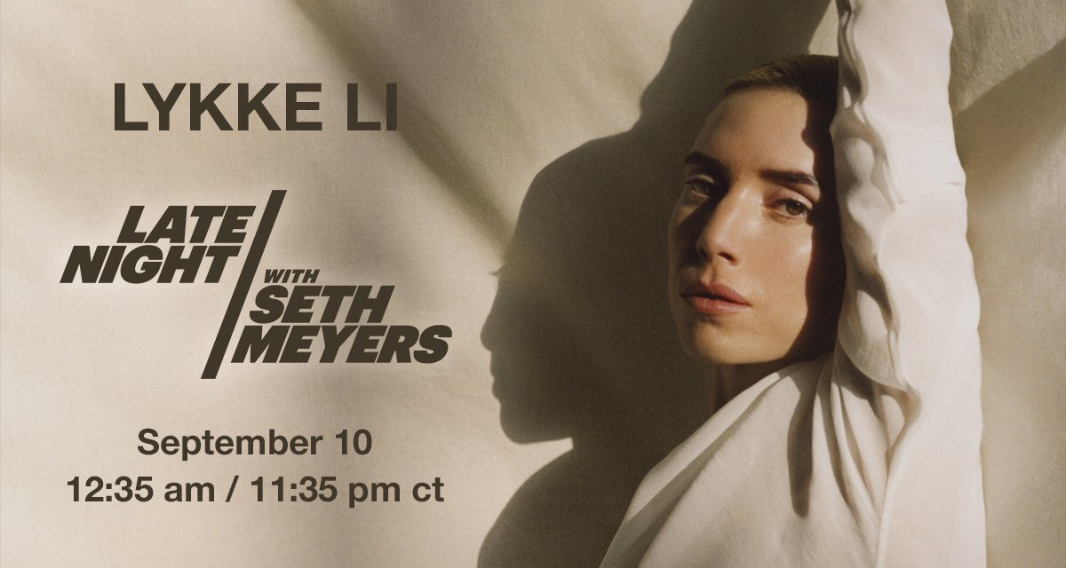 playing @latenightseth tomorrow night ✨✨