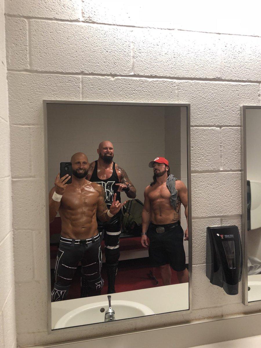#BrotheredOutSeflie before #WWELubbock #TooSweet @AJStylesOrg @LukeGallowsWWE