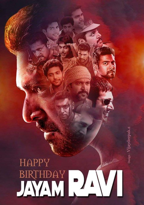 happy birthday jayam Ravi Anna   wish u all success in your life   by north Chennai guys