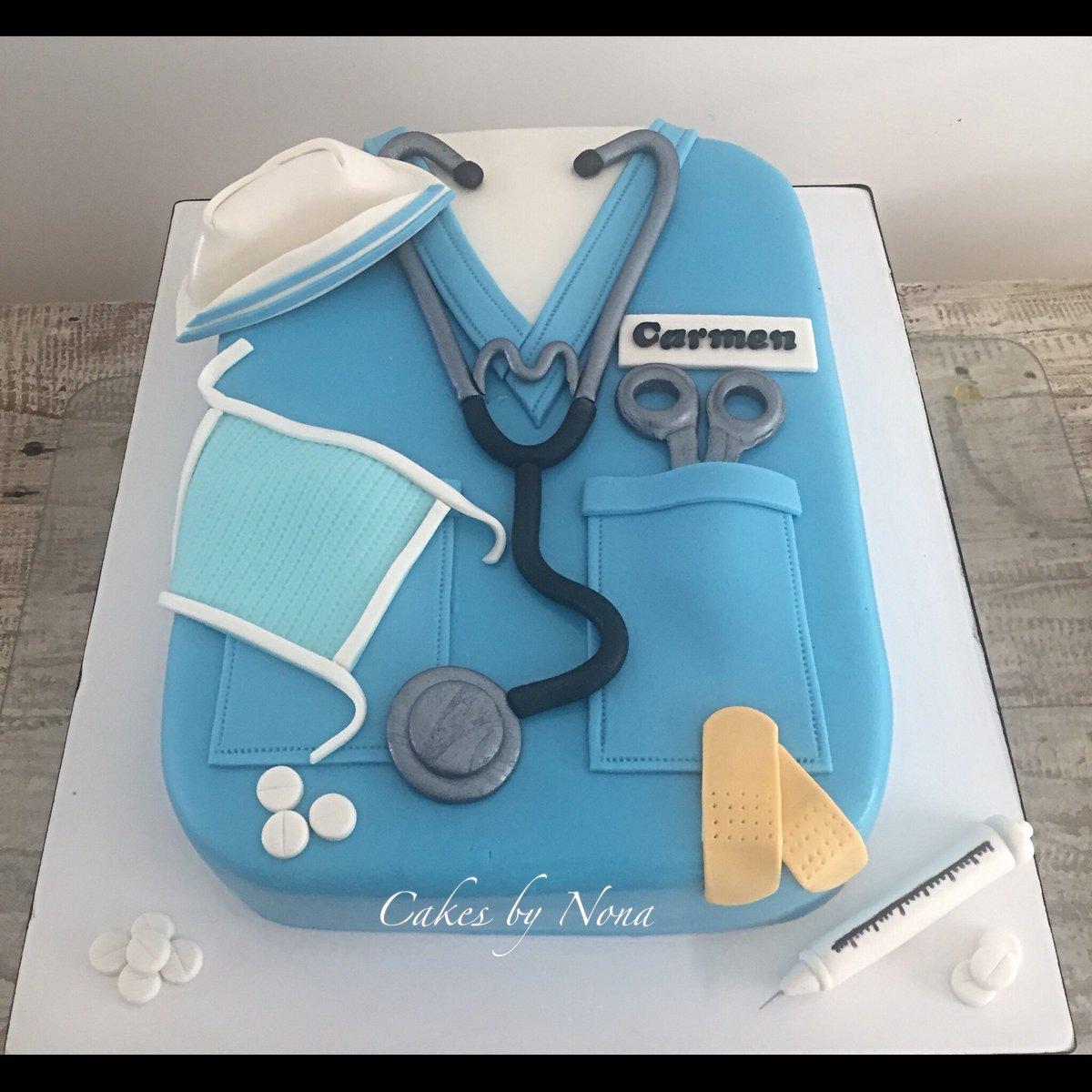 Nurse Themed Bday Cake Nursecake Enfermera Pastelenfermera Cakes Cakesbynona Fondantcakes Fondantart Fondantartist Customcakes