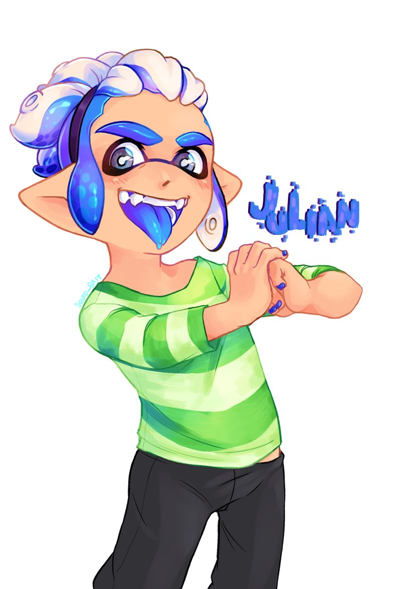 hey have an OC. This is Julian and he'll sell you bootleg stuff on the internet. #splatoon #squidoc pic.twitter.com/tPdZCRb4Ez