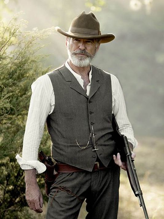 I have zero idea whether the show is any good or not, but my GOD can we all talk about Pierce Brosnan's look in his new show, The Son, and how this is going to be my entire style guide from now on