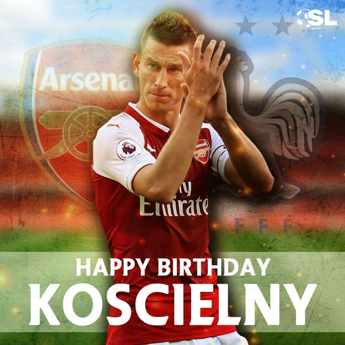 Laurent Koscielny is turning 33 today! Join us in wishing the Arsenal skipper a Happy Birthday!