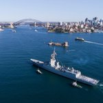 Wonderful scenes of NUSHIP Brisbane arriving at her home base of Fleet Base East, Garden Island Sydney, for the first time. Brisbane will be commissioned into the Royal Australian Navy fleet on 27 October 2018. #auspol #ausdef