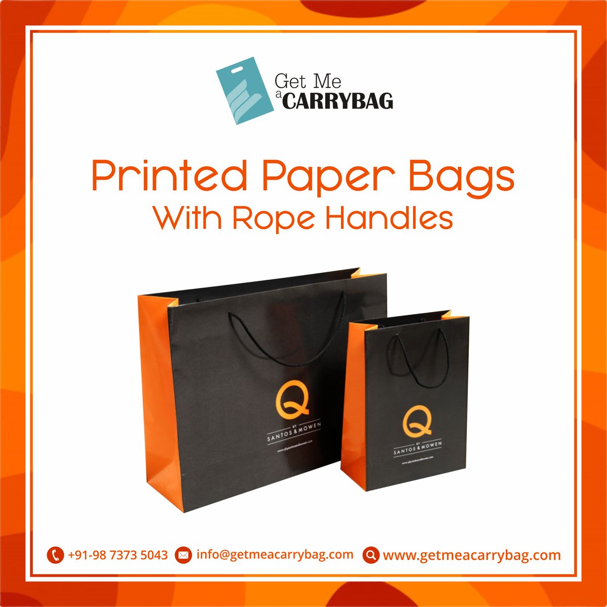 Getmeacarrybag On Twitter Printed Paper Bags With Rope Handles Visit Https T Co Eechc9oul9 Call Or Whatsapp At 91 9873735043 Mail Us Info Getmeacarrybag Com Getmeacarrybag Print Customized Design Paper Carry Bag Ropehandles Https T Co