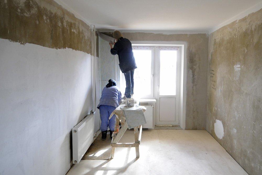 Фото процесс ремонта комнаты